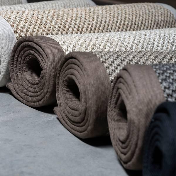 Sisal teppe (300x400 - Antrasitt/sort kant)