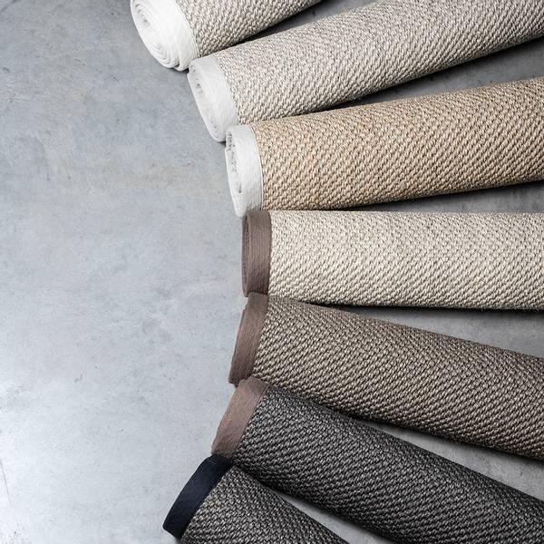 Sisal teppe (160x230 - Sand/brun kant)